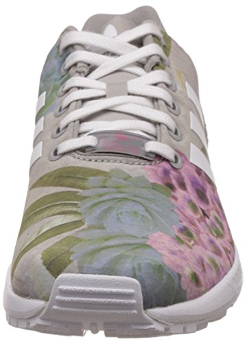 adidas Zx Flux, Baskets Basses Femme gris (Mgh Solid Grey/Ftwr White/Lush Pink S16-St)