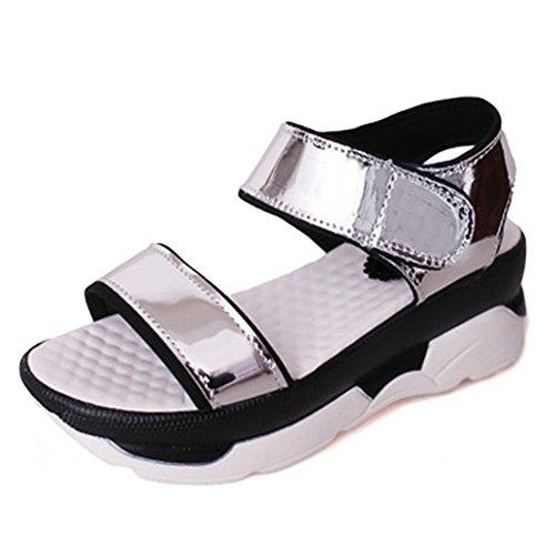 Fashion ladies casual polyvalents sandales de Velcro en été/Version coréenne de la sandale de Joker A