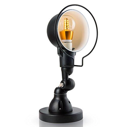 Veesee E27 retrò luce a muro lampada da parete riparo annata industriale hardware orientabile corpo di ferro con nero opaco per la casa, bar, ristoranti, caffetteria, Club decorazione(110-220V, lampadine non incluse)
