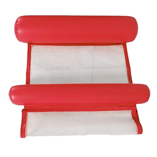 fervortop Wasser-Hängematte Mesh-Poolliege Float Hängematte Schlauchboote Faltbare Dual-Use-Rückenlehne Tragbare Pool Mat für Erwachsene und Kinder, 5 Farben optional - Faltbare Hängematte Tragbare