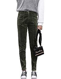 OCHENTA Femme Pantalon Velours Côtelé Automne ... 49c81a0d37c