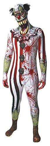 Clown Jaw Dropper Verrücktes Kleid Kostüm, XXL, 186 - 210 cm (Zombie Morph)