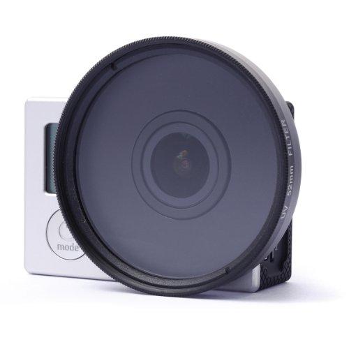 XCSOURCE® 52mm UV Filter Satz Adapter + UV Filter + Objektivdeckel für GoPro Hero 3 3 + LF325