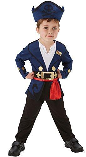 Disney Mädchen Jungen Izzy oder Jake und die Nimmerland Piraten Buch Tag Woche Halloween Kostüm Kleid Outfit - Jake, 104 (Jake Und Izzy Kostüme)