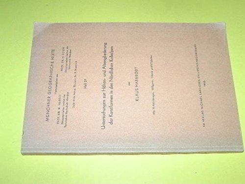Untersuchungen zur Höhen- und Altersgliederung der Karstformen in den Nördlichen Kalkalpen