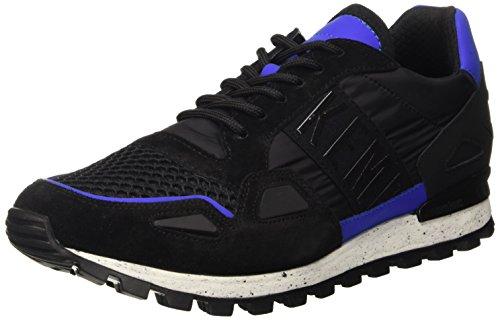 BIKKEMBERGS Herren Fend-Er 739 Low Shoe M Nylon/Nabuk Pumps Nero (Black/Blue)