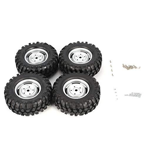 Sanzhileg-4-Pezzi-100mm-Auto-da-Arrampicata-Fuoristrada-cerchione-e-Pneumatici-per-110-Monster-Truck-Racing-Accessori-Auto-RC-Component-Black-Silver-100mm