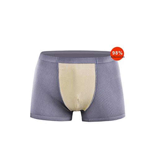 Mens Boxer nahtlose mittelhohe funktionelle Shorts Baumwolle Herren Unterwäsche Boxer für Männer Pack von 3, Herren Trunks L XL XXL XXL , XL