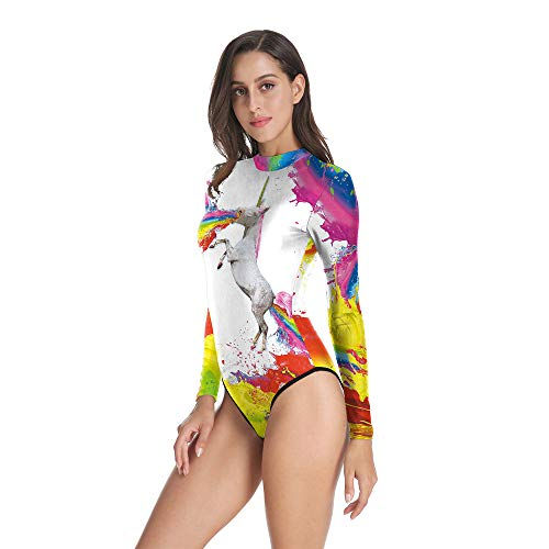 cb7d1a0a84d Budazo European and American Unicorn 3D Digital Printing Girl's Swimsuit