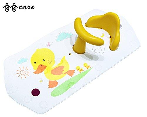 BBCare Baby rutschfester Badesitz & Extra lange Badematte mit farb?ndernden Hot Spot(Gelb_Ente)