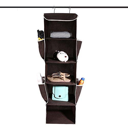 GEMITTO Hänge Aufbewahrung,5 Fächer Hängeregal mit Robust Eisengestell Hängeregal,Hänge schrank auch Hängeregal für den Flur oder das Schlafzimmer geeignet 108...