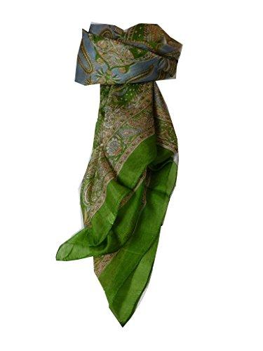 Sciarpa Prime Qualità di 100% Seta Classic Modello Harisa Sage Donna Stola Scialle Scarf da Pashmina & Silk