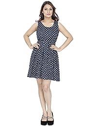 FRANCLO Women's Polka Dot Midi dress (Best fit 30-32 bust)