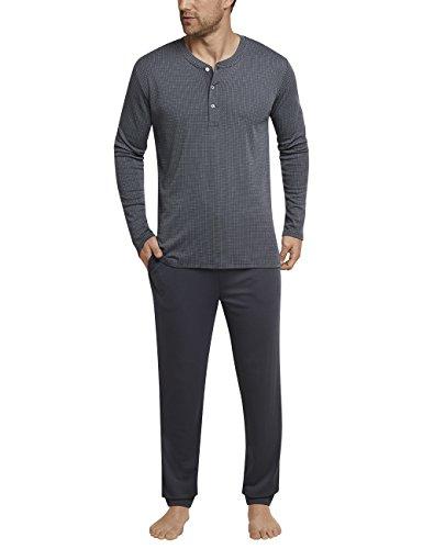 Schiesser Herren Zweiteiliger Schlafanzug Anzug lang, (Grün 700), Medium (Herstellergröße: 050)