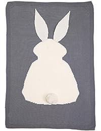 ropa de dormir de punto Sannysis Manta para hacer punto, Diseño de conejo