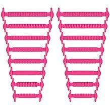 2086e05adfc3c Newkeen sin corbata Cordones de zapatos para niños y adultos - Impermeables  cordones de zapatos de