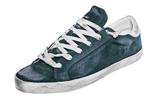 Golden Goose , Baskets pour femme * Green Suede Skate