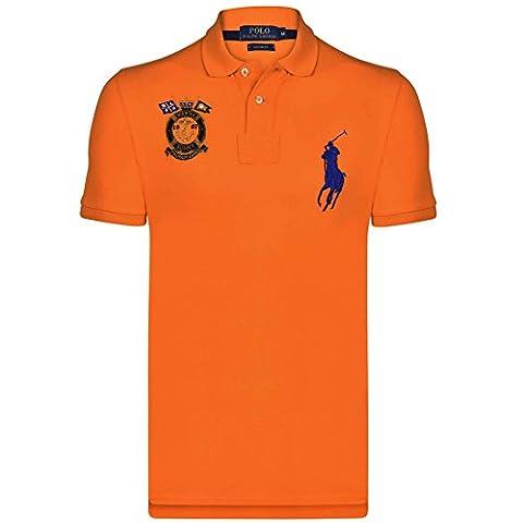 Ralph Lauren - Polo - Col Chemise Italien - manches courtes - Homme orange Bright Signal Orange Medium