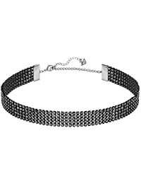 Swarovski Collar Fit, Negro, baño de rutenio