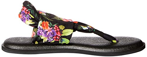 Sanuk Ladies Yoga Sling # 2 Stampa Toe Separator Black Tropic Amazon