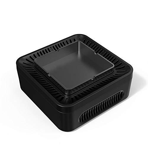 YXZN Cenicero Negativo Ion Aire Purificador De Polvo Chupar Humo Homehold,Black,153.5X153.5X65.7MM
