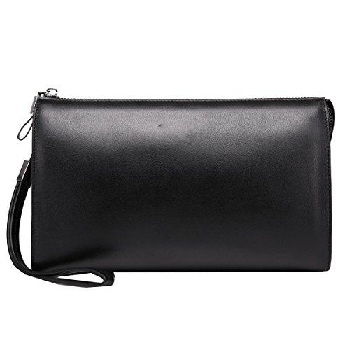 Yy.f Uomini Nuovi Bag Borse Da Uomo In Pelle Frizione Morbida Pelle Ad Alta Capacità Degli Uomini Di Affari Pochette 2 Colori Black