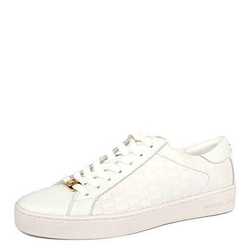 Sneaker Michael Kors Colby in pelle logata bianca