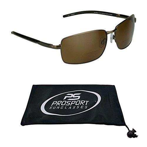 proSPORTsunglasses Polarisiert Bifokalwillen Sonnenbrille Mit Premium-Tac Polarisierende Gläser, Langlebige Nickel-Metall-Frames. (3,00) Herren Mittel Braun