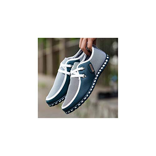 HOTSTREE Men Casual Shoes Breathable Light Flats Shoes Men Loafers Slip On Mens Driving Shoes Trainers WW-431 Green 7