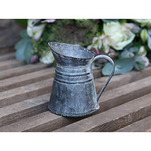 Chic Antique Krug Kanne Vase Gießkanne Metall Zink Nostalgie französicher Landhaus- Stil
