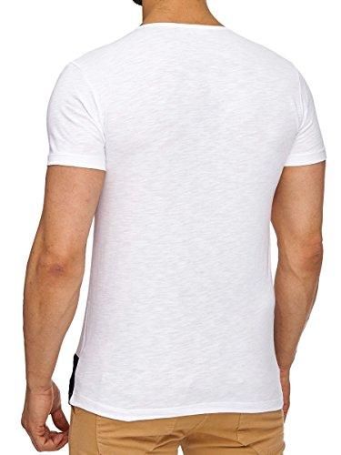 ... Tazzio T-Shirt Herren Shirt kurzarm Prints Rundkragen Rundhals Weiß ...