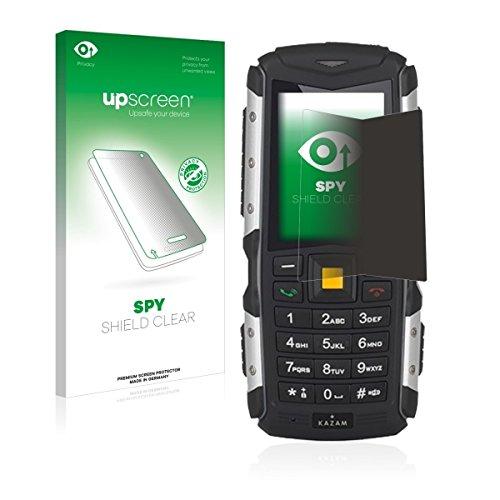 upscreen Spy Shield Clear Blickschutzfolie / Privacy für Kazam Life R5 (Sichtschutz ab 30°, Kratzschutz, selbstklebend)