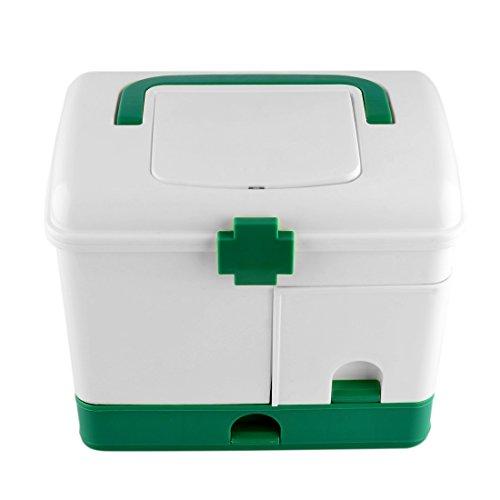 ldi.wa Medizinkoffer Tragbar Mehrfunktional Aufbewahrungs Box Doppelschichtbox Medizinische Aufbewahrungsbox