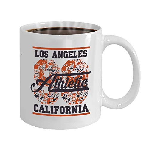 Funny Gifts for Halloween Party Gift Coffee Mug Tea los angeles athletics typography stamp california v (Halloween Angeles Party Los)