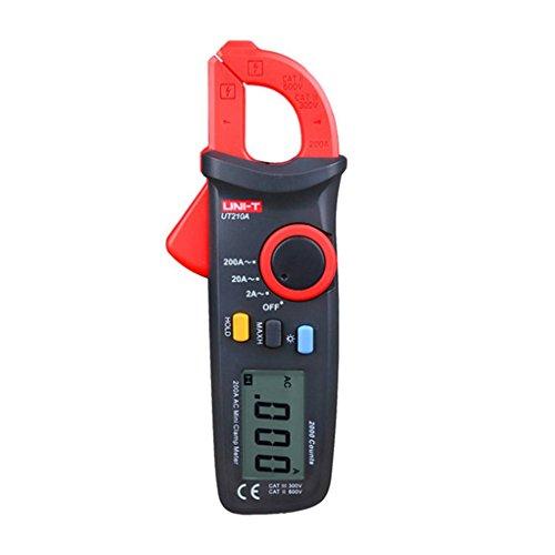 Unit Digital Clamp (ELENXS Uni-T UT210A 2000 Count Mini Digital Clamp Meter Multimeter Tester Auto Range AC Strom 2A / 20A / 200A)