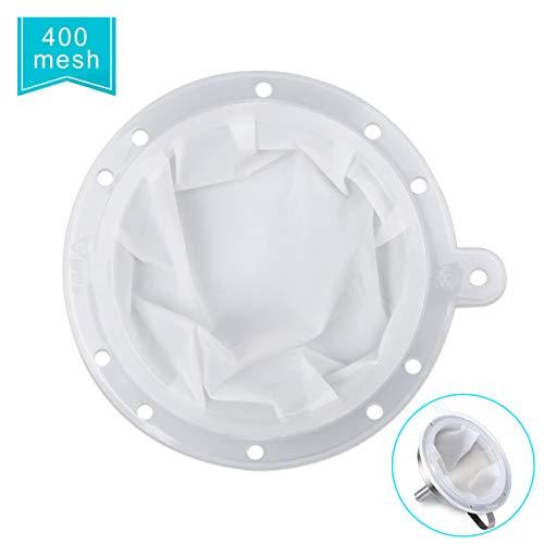 HAUSPROFI Sieb Filter Kompatibel mit 5 Zoll Küchen Trichter für Filterung von Saft, Milch, Kaffee, Wein - 400 Mesh