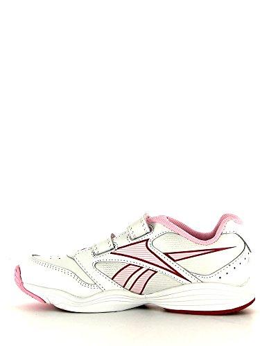 Reebok , Chaussures spécial tennis pour fille bianco e rosa - bianco e rosa