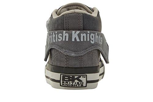 British Knights ROCO HERREN HIGH-TOP-SCHUH SNEAKER NOIR/GRIS