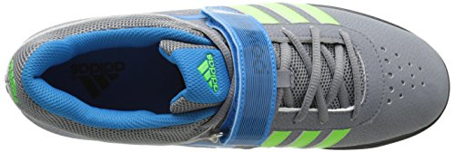 adidas  Power Perfect Ii, Multi-sports - Intérieur Unisexe adulte Grey/Neon Green/Solar Blue