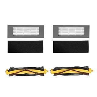 Hunpta@ Zubehör für Staubsauger für ECOVACS DEEBOT OZMO 610 Staubsauger 2 Stück Filter- und BorstenbürsteFilter- und Borstenbürstenersatz Staubsauger (Weiß)