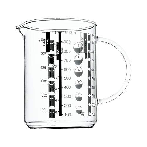 WMF Messbecher 1 l Gourmet aus hitzebeständigem Glas (4-cup Messbecher 1)