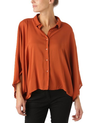 Cheap Monday - Maglia Active, manica a 3/4, donna, Arancione (Copper), M