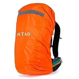 OUTAD - Protection Sac à dos - Etanche - Bande Réfléchissante - Etanche - Housse de Protection - Idéal pour Camping - Randonnée