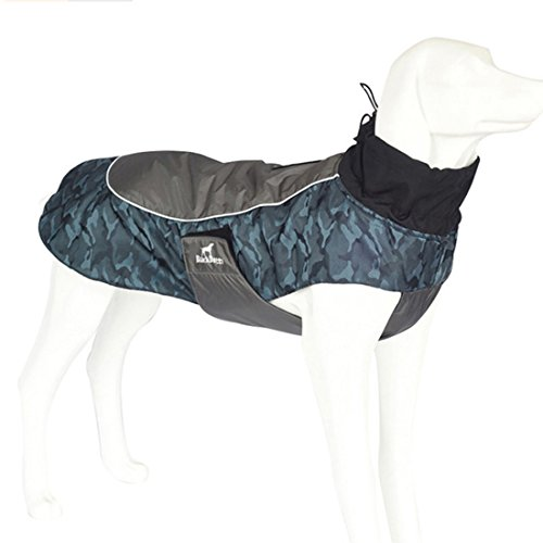Hundemantel Atmungsaktiv & Fashion Absolut Wasserdicht Regenjacke Hund Jacke Regenmantel Hundejacke für Kleine/ Mittlere/ Große Hunde von Treat Me (Outdoor-jacke Absolute)