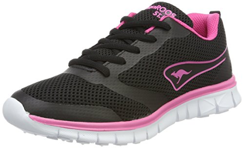 KangaROOS K-March, Sneaker Donna Schwarz (Jet Black/Daisy Pink)