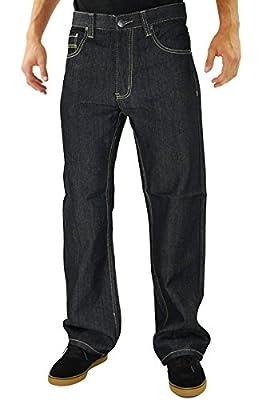 Kayden.K Loose Fit Straight Leg Jeans Black Khaki