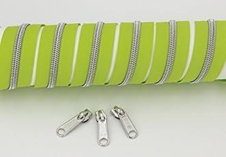 Reißverschluss endlos frühlingsgrün/silber (1m)