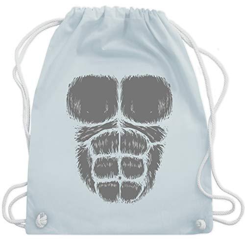 Karneval & Fasching - Gorilla Kostüm Fasching - Unisize - Pastell Blau - WM110 - Turnbeutel & Gym Bag
