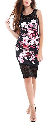 sunifsnow-robe-special-grossesse-plissee-a-fleurs-sans-manche-femme-noir-xx-large