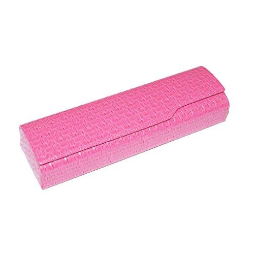 """Joli étui à lunettes """"Lola en différentes couleurs avec fermeture magnétique rose bonbon"""